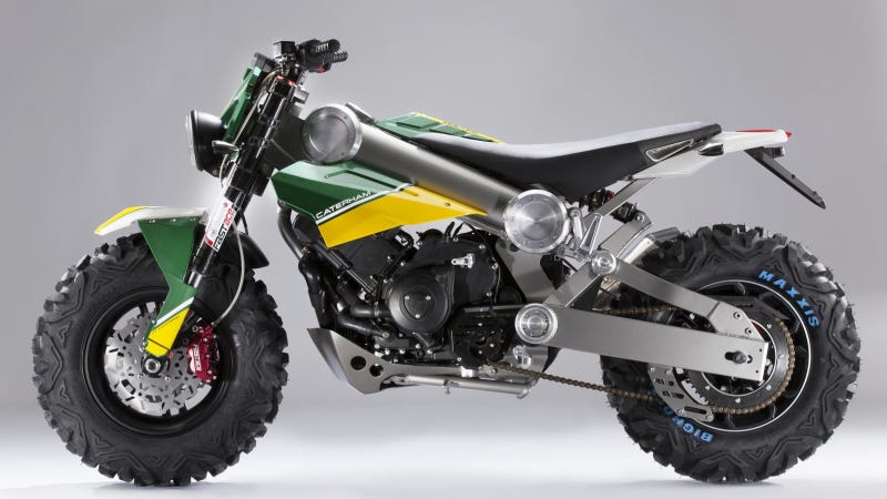 Illustration for article titled Caterham Says This Is The 'SUV Of Motorcycles'