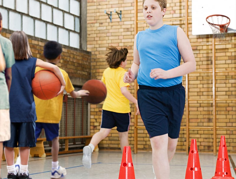 Illustration for article titled Unathletic Child Returns To Safety Of Back Of Lay-Up Drill Line