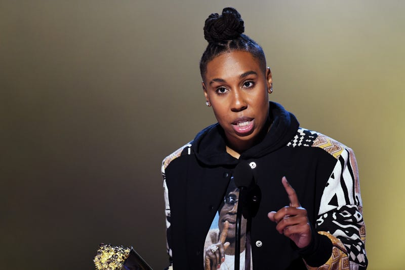 Lena Waithe accepts the MTV Trailblazer Award during the 2018 MTV Movie & TV Awards on June 16, 2018, in Santa Monica, Calif.