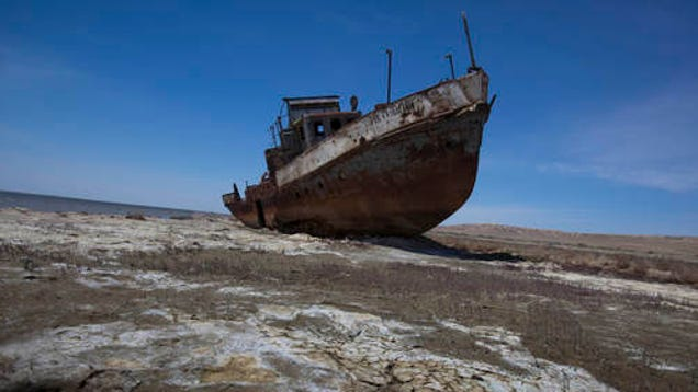 Dead lakes, dying seas: human-made natural disasters