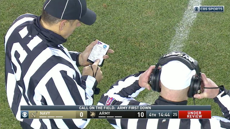 Illustration for article titled Officials At Army-Navy Needed 8 Minutes To Review A 2-Yard Run