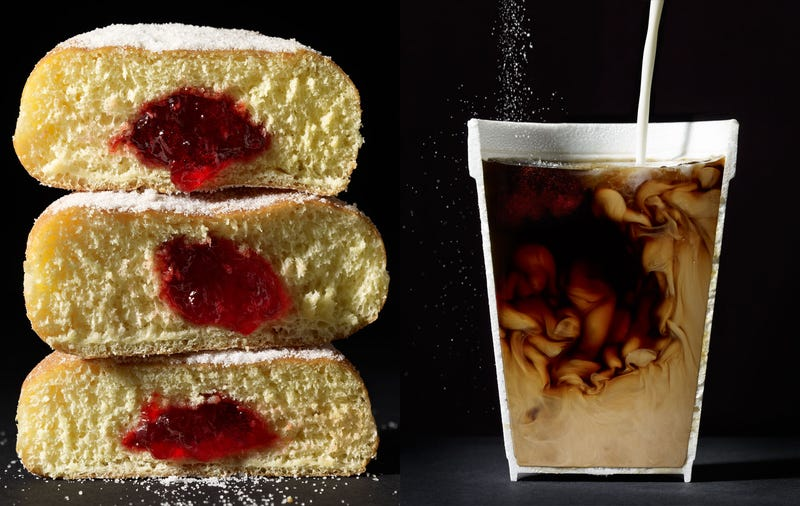 Illustration for article titled Photographs of foodstuff and beverages cut in half