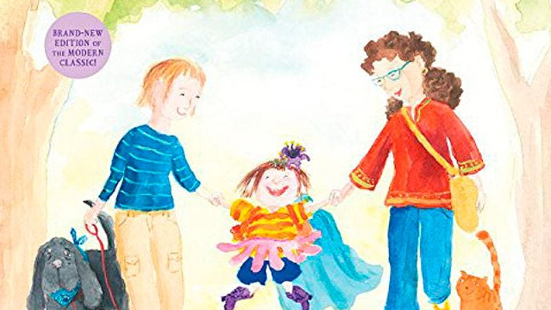 Illustration for article titled Children's book Heather Has Two Mommies has been updated to reflect gay marriage