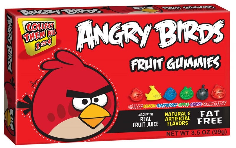 Illustration for article titled Tonight's Gummi: Angry Birds Fruit Gummies