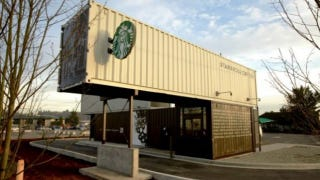 Illustration for article titled Starbucks Builds a Drive-Through Out of Shipping Containers