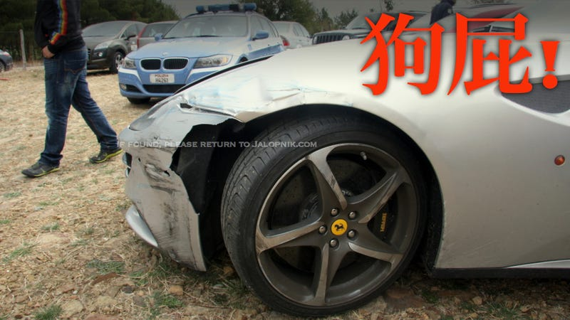 Illustration for article titled A Driver At The Targa Florio Crashed His Brand New $300,000 Ferrari FF
