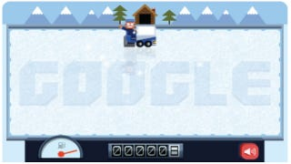 Illustration for article titled Google's Homepage Today Features A Terrific Little Ice Game