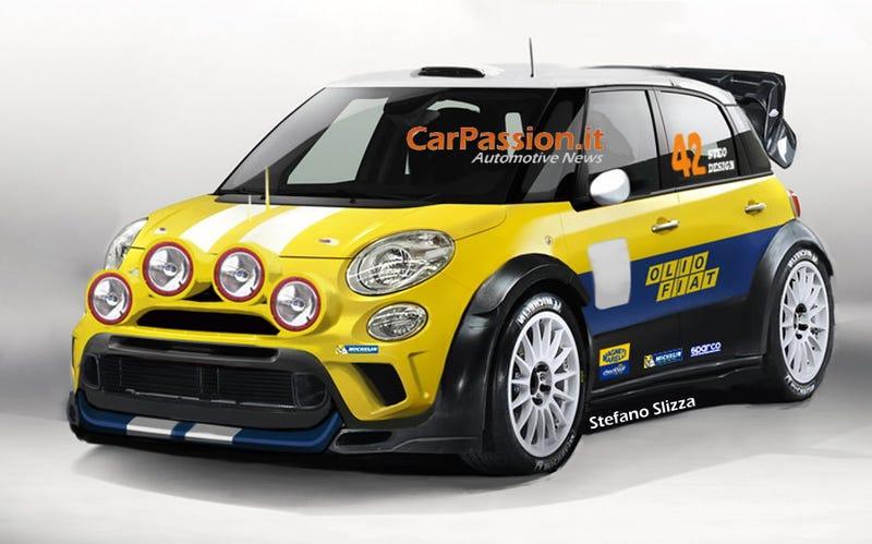Illustration for article titled Fiat 500L WRC