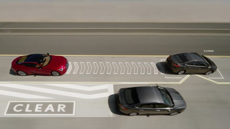Lexus April Fools' Day prank uses V2V against left-lane hogs