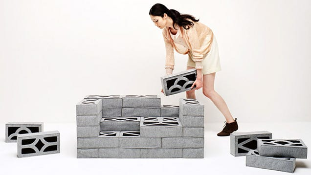 lumber and raw upholstery japanese design studio torafu architects has created these large scale foam building blocks that making assembling furniture building japanese furniture