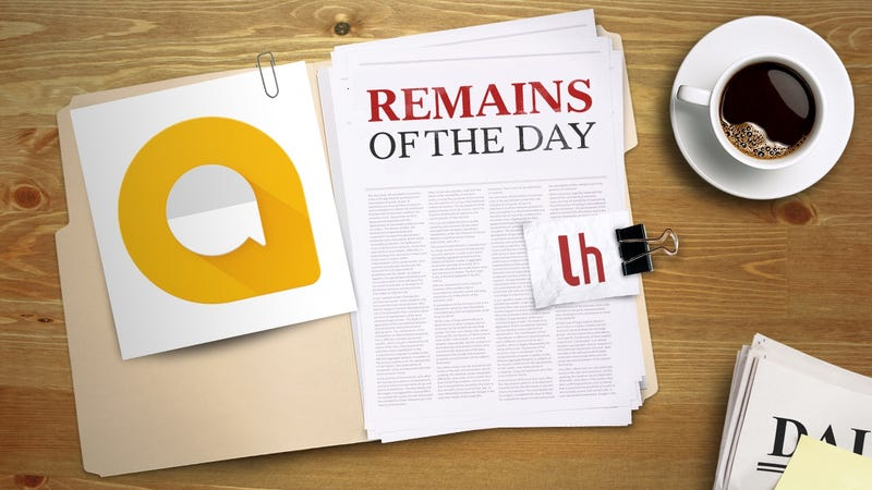 Illustration for article titled Remains of the Day: It's Now Easier to Use Google Assistant in Allo