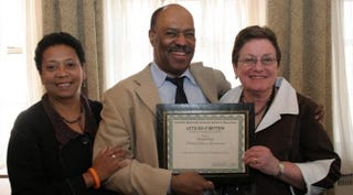 Dori Maynard, left, Richard Prince and Arlene Morgan, then director of the Let's Do It Better! Workshop on Journalism, Race and Ethnicity at the Columbia University School of Journalism in 2007. Prince was one of the award winners.Rebecca Castillo/Columbia University