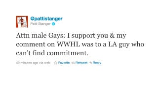 Illustration for article titled Patti Stanger Doesn't Have Anything Against The Gays, She Swears!