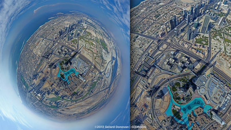 Illustration for article titled The First Panorama From the Top of the Tallest Building in the World