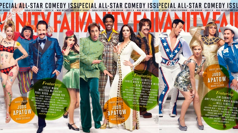 Illustration for article titled Vanity Fair's Comedy Issue Covers Have Equal Numbers of Men and Women