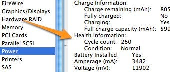 Illustration for article titled Check Your Mac's Battery Health in System Profiler