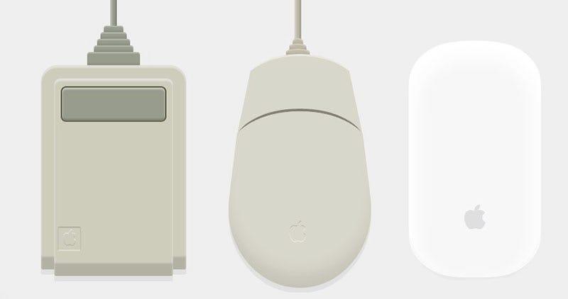 Illustration for article titled 30 años de ratones de Apple, recreados en CSS
