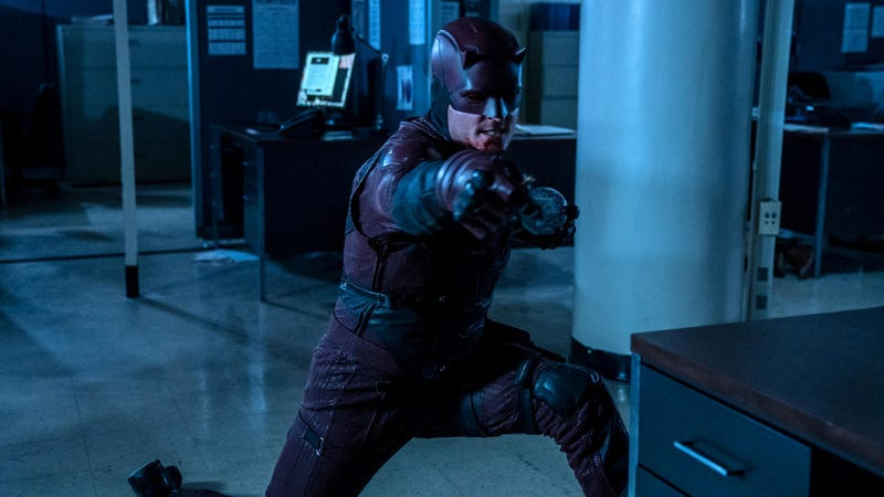 Wilson Bethel playing dress up as Daredevil.
