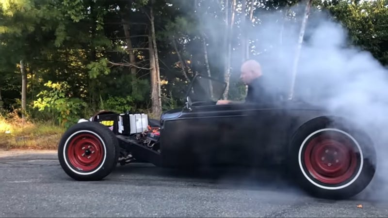 This Hot Rod Stole Its Power From An Electric Motorcycle
