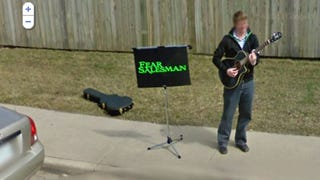 Illustration for article titled Musician Finds Minor Fame by Stalking Google Street View Car