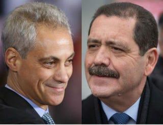 Chicago Mayor Rahm Emanuel; Jesus GarciaScott Olson/Getty Images