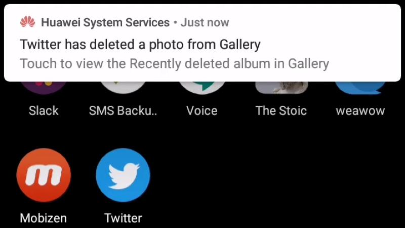 Illustration for article titled Huawei está eliminando fotos descargadas de Twitter en los teléfonos de algunos usuarios