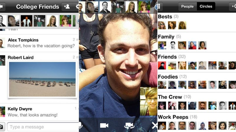 Illustration for article titled Google+ for iOS Gets Mobile Hangouts, Too