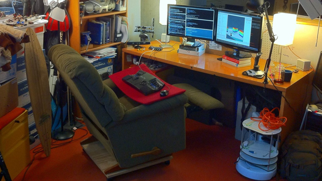 turn a la-z-boy recliner into the ultimate desk chair