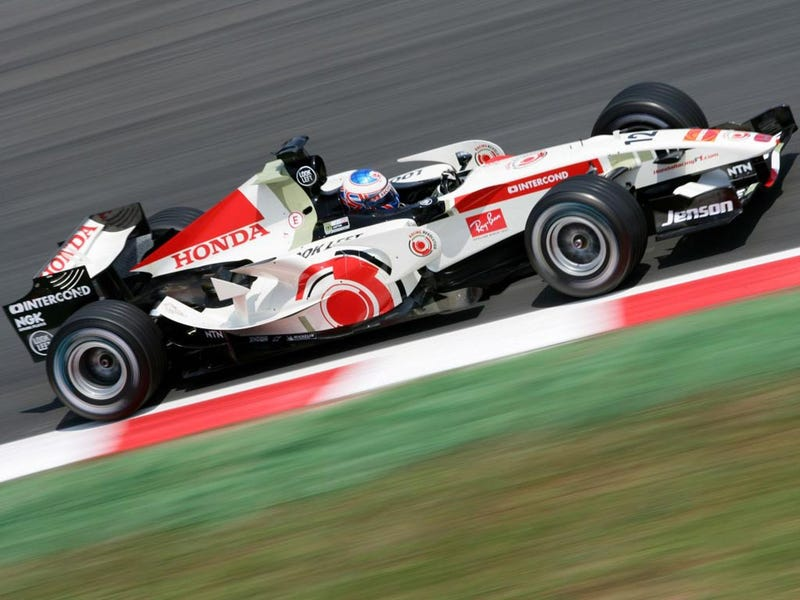 Illustration for article titled Want to Buy Jenson Button's F1 Car?