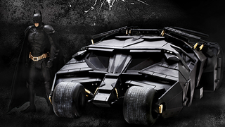 Illustration for article titled A Brilliant Dark KnightTumbler Model, Complete With Batman To Drive It