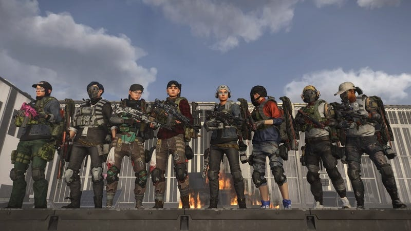 The Valkyrie Rising team after clearing The Division 2's raid for the first time.