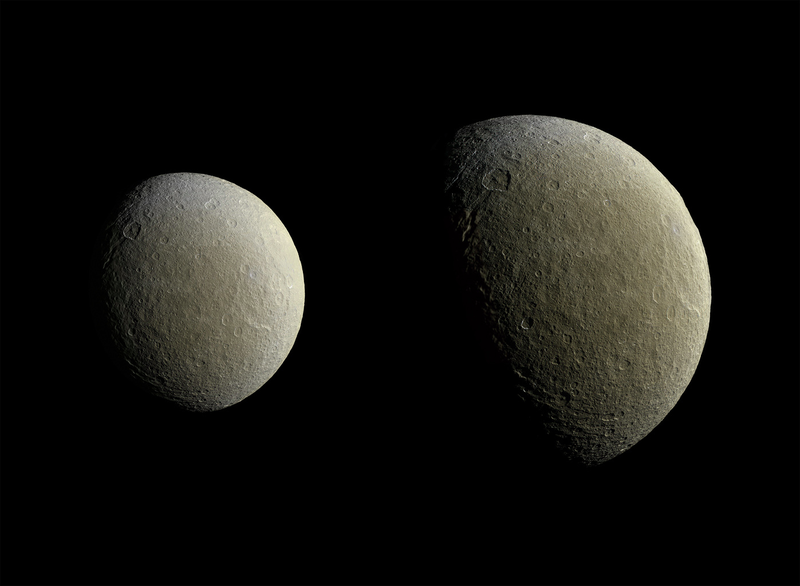 Illustration for article titled Stunning New Images Of Rhea Herald More Photos Of Saturn's Icy Moons