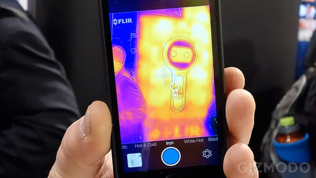 flir thermal camera iphone flir just turned your iphone 5 into a predator like 14122