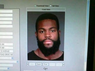 Illustration for article titled This Is Supposedly Braylon Edwards' Mugshot