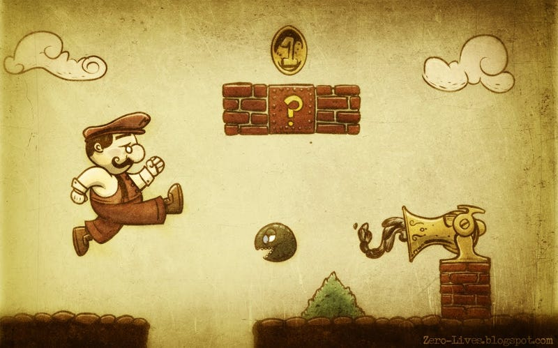 Illustration for article titled Victorian Mario Bros.