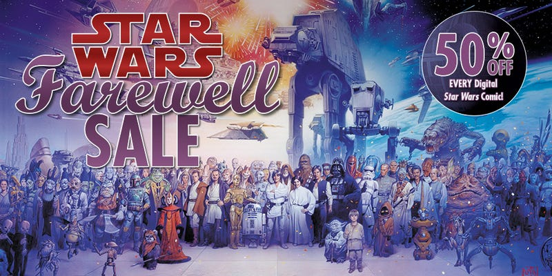 Illustration for article titled Hundreds of Star Wars Comics Are On Sale...Before They Disappear