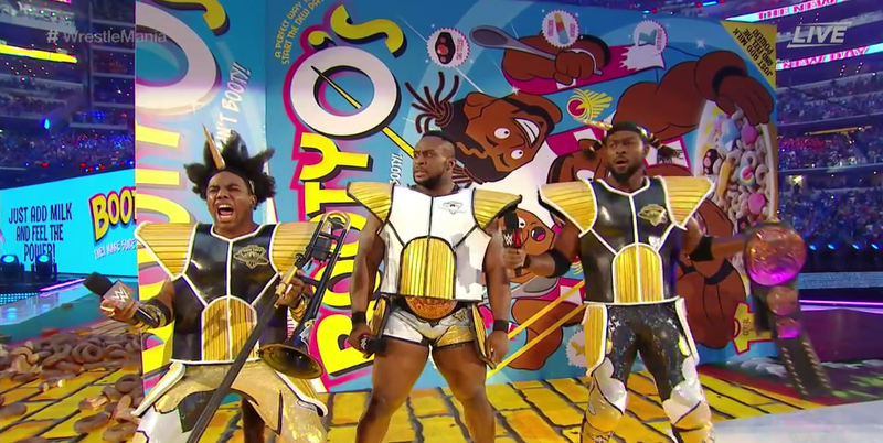 Illustration for article titled The New Day Just Entered Wrestlemania In Dragon Ball Cosplay
