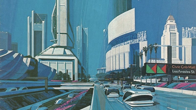 Illustration for article titled What futurists in 1988 imagined Los Angeles would be like in 2013