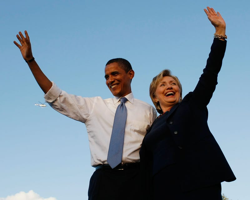 Back in the day when then-Democratic presidential nominee Barack Obama was on campaign trail with then-Sen. Hillary Clinton (D-N.Y.) at a campaign rally in Orlando, Fla., on Oct. 20, 2008Joe Raedle/Getty Images