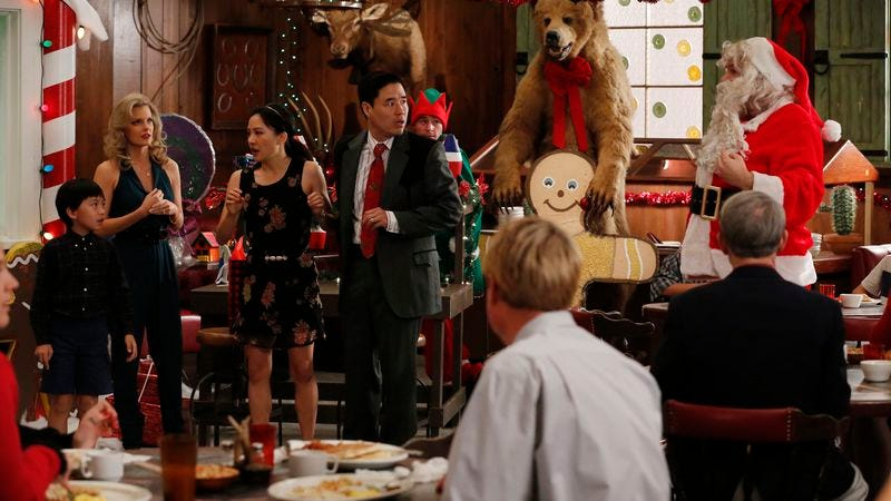 Illustration for article titled Jessica shows Santa who's lao ban in Fresh Off The Boat Christmas episode