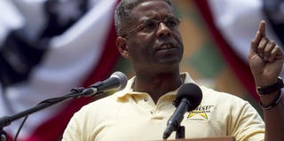 Former U.S. Rep. Allen West (R-Fla.) at a Tea Party rally in 2011 (John W. Adkisson/Getty Images)