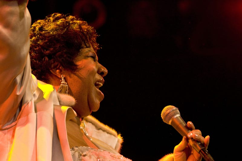 Aretha Franklin performs at The House of Blues on Nov. 21, 2008 in West Hollywood, California.