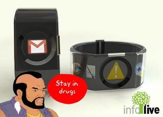 Illustration for article titled INFO Live Connected Bracelet Design Beats Gold Bracelets
