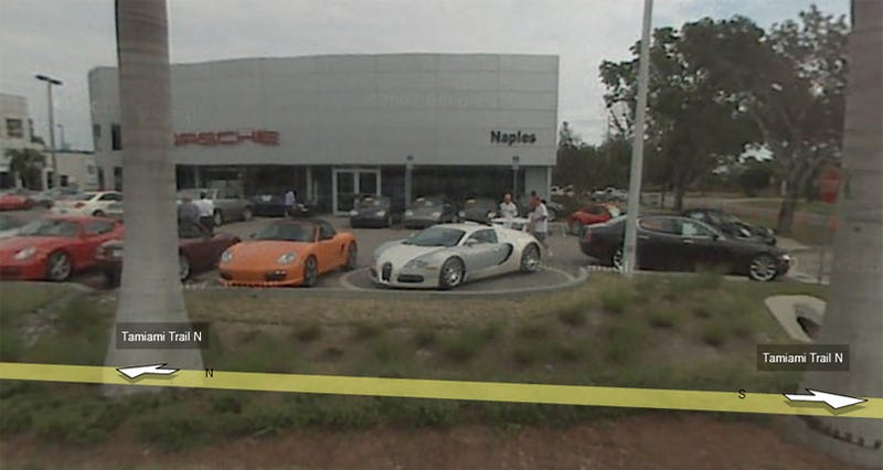 Illustration for article titled Google Street View Catches Bugatti Veyron