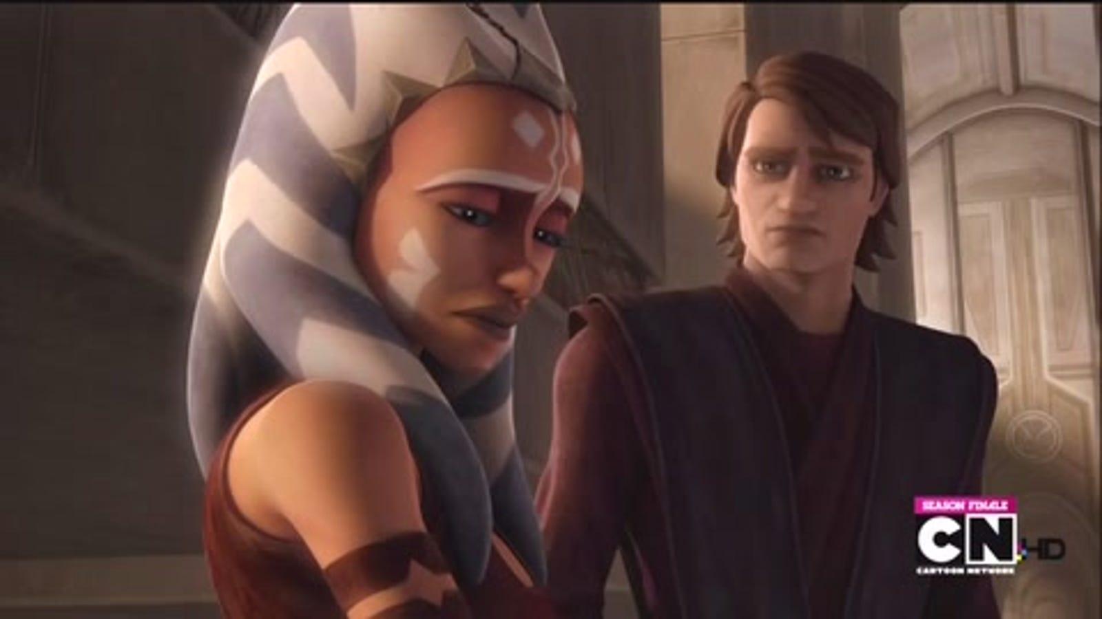 On the Clone Wars season finale, Ahsoka breaks Anakin's