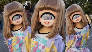 Illustration for article titled Little girl's cyclops cosplay is adorable and/or horrifying