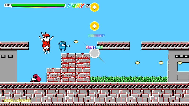 The game's Mega Man-inspired level.