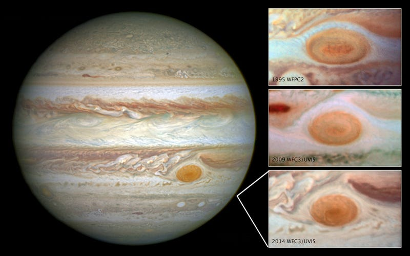 Illustration for article titled Jupiter's Great Red Spot Is Shrinking