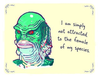 Illustration for article titled What if the Creature from the Black Lagoon used PostSecret?