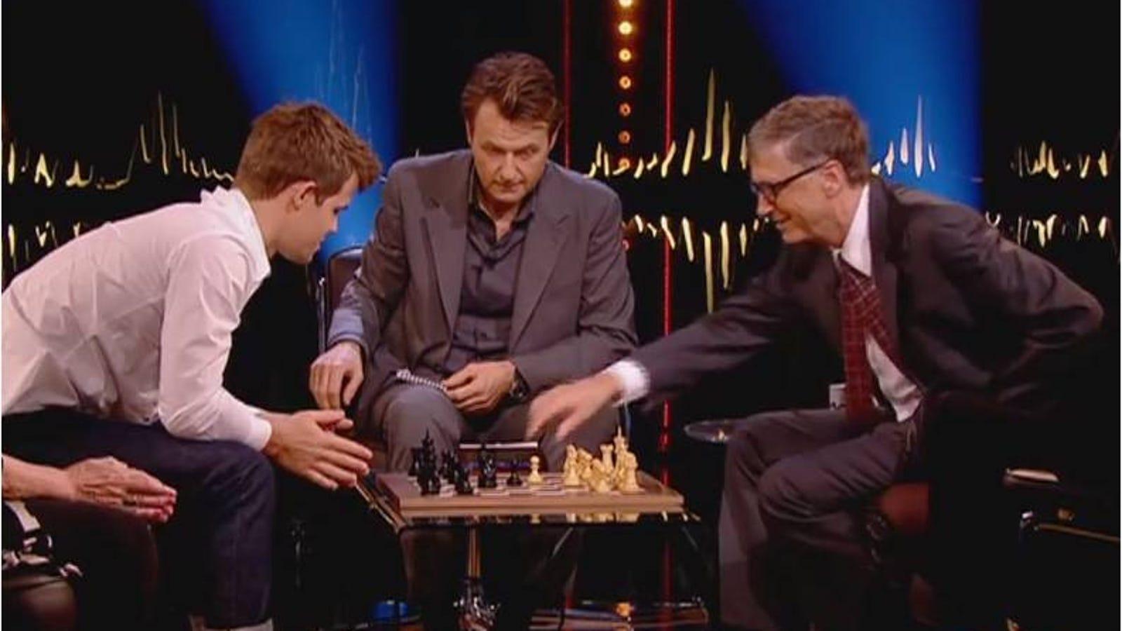 El mejor jugador de ajedrez del mundo gana a Bill Gates en 79 segundos